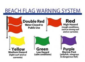 1 beach flags
