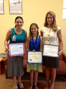 Donna Guzzo, LEE Founder and Administrator;  Fiore Marina, named Florida Foreign Language Association (FFLA) Elementary Scholar of the Year; and Sandra McMandon, Principal, Durbin Creek Elementary School.