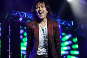 Lawrence Gowan, vocalist and keyboardist for the band Styx, sings for the sold-out crowd on May 27 at the St. Augustine Amphitheatre. Photos by RENEE UNSWORTH