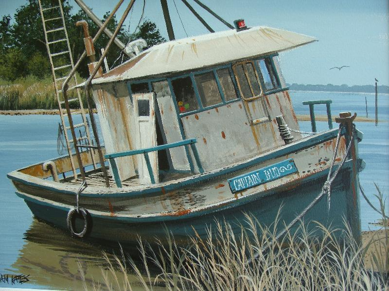 Coastal-themed art by St. Augustine artist Sam Kates will open June 6 on the First Friday Art Walk at Butterfield Garage Art Gallery, 137 King St. The exhibit will run through June.