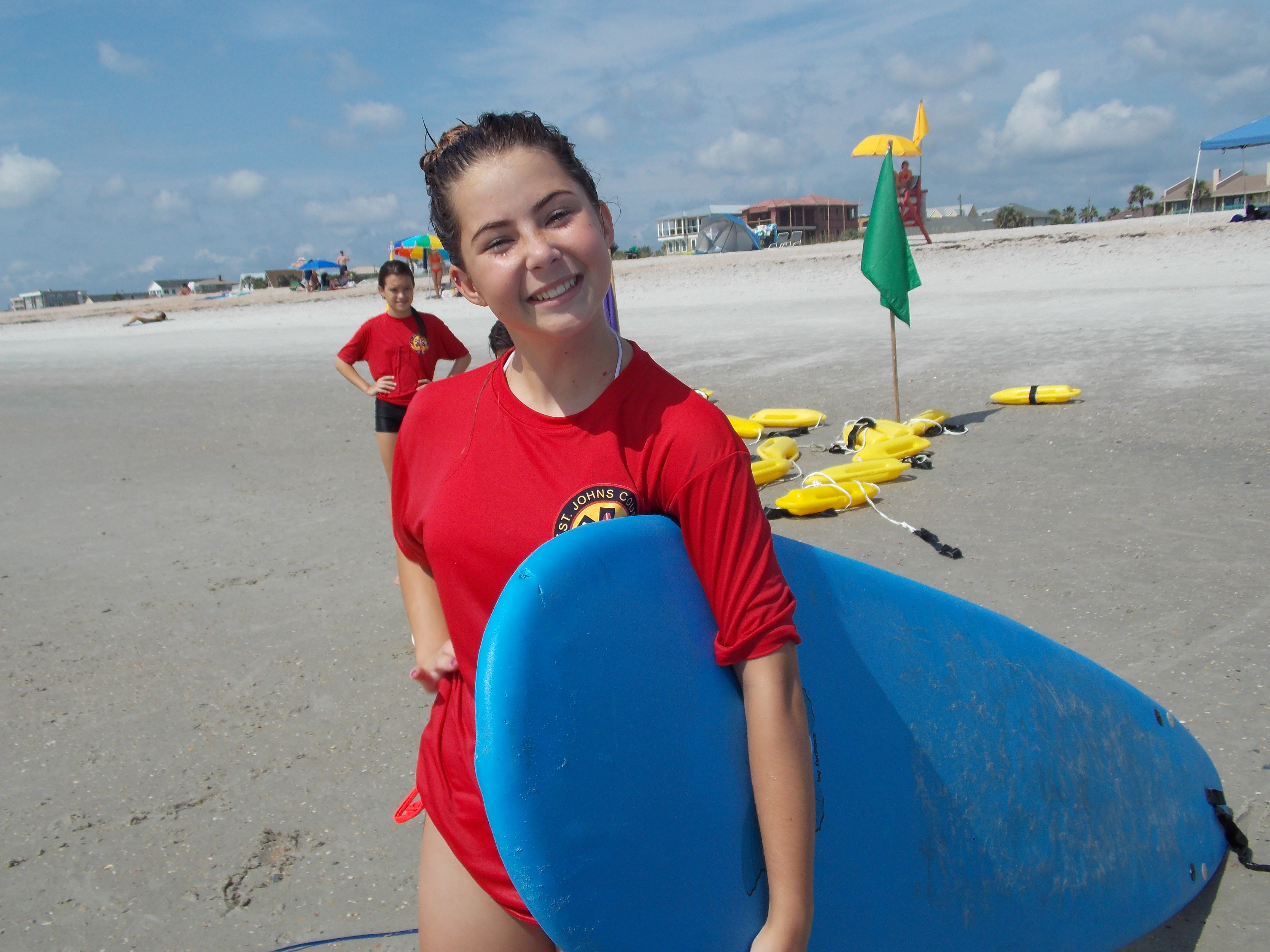 A Junior Lifeguard camp participants has fun on St. Augustine Beach and learns ocean safety. Photos by REBECCA ROMAINE