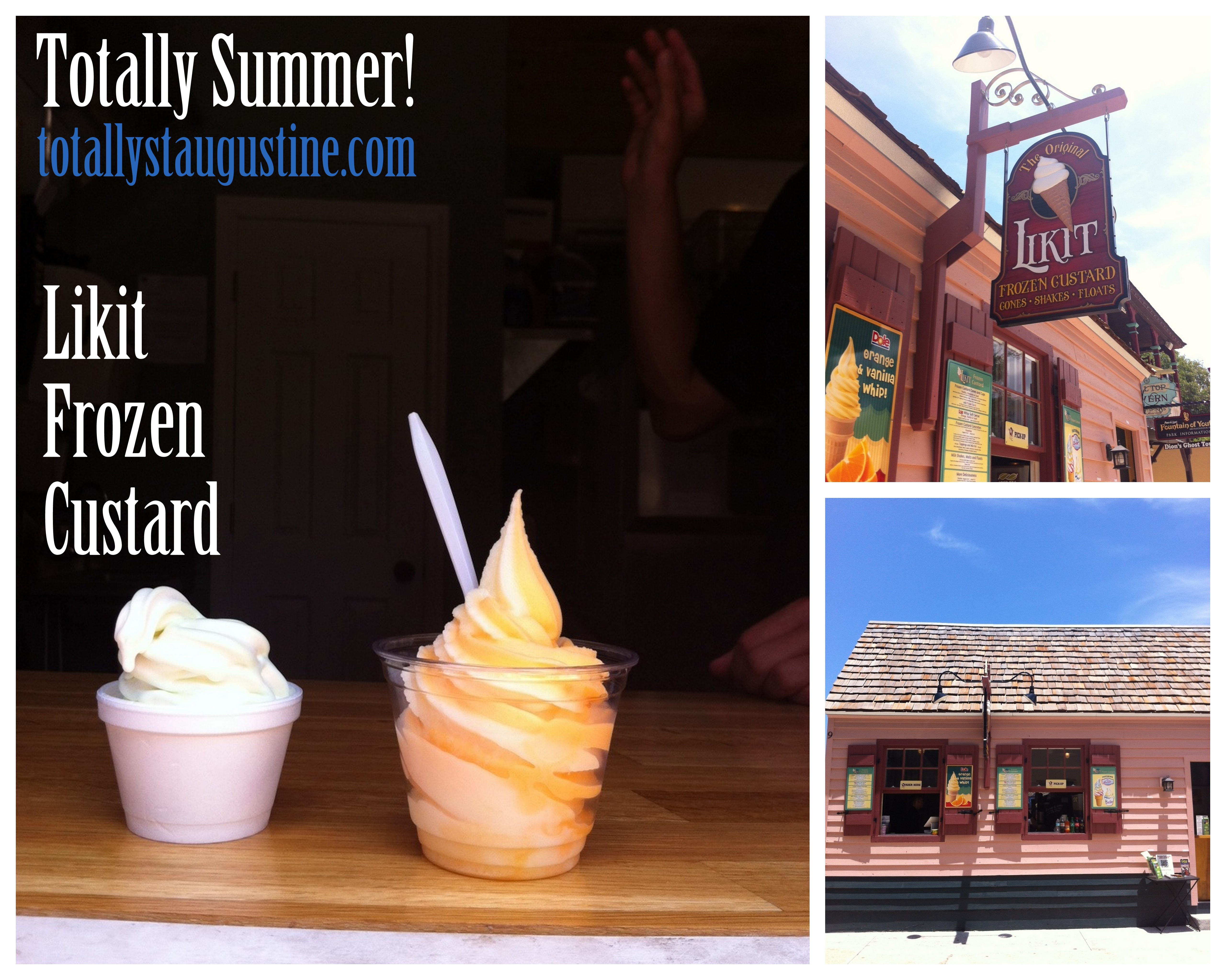 Likit Frozen Custard in downtown St. Augustine offers cold summer treats.