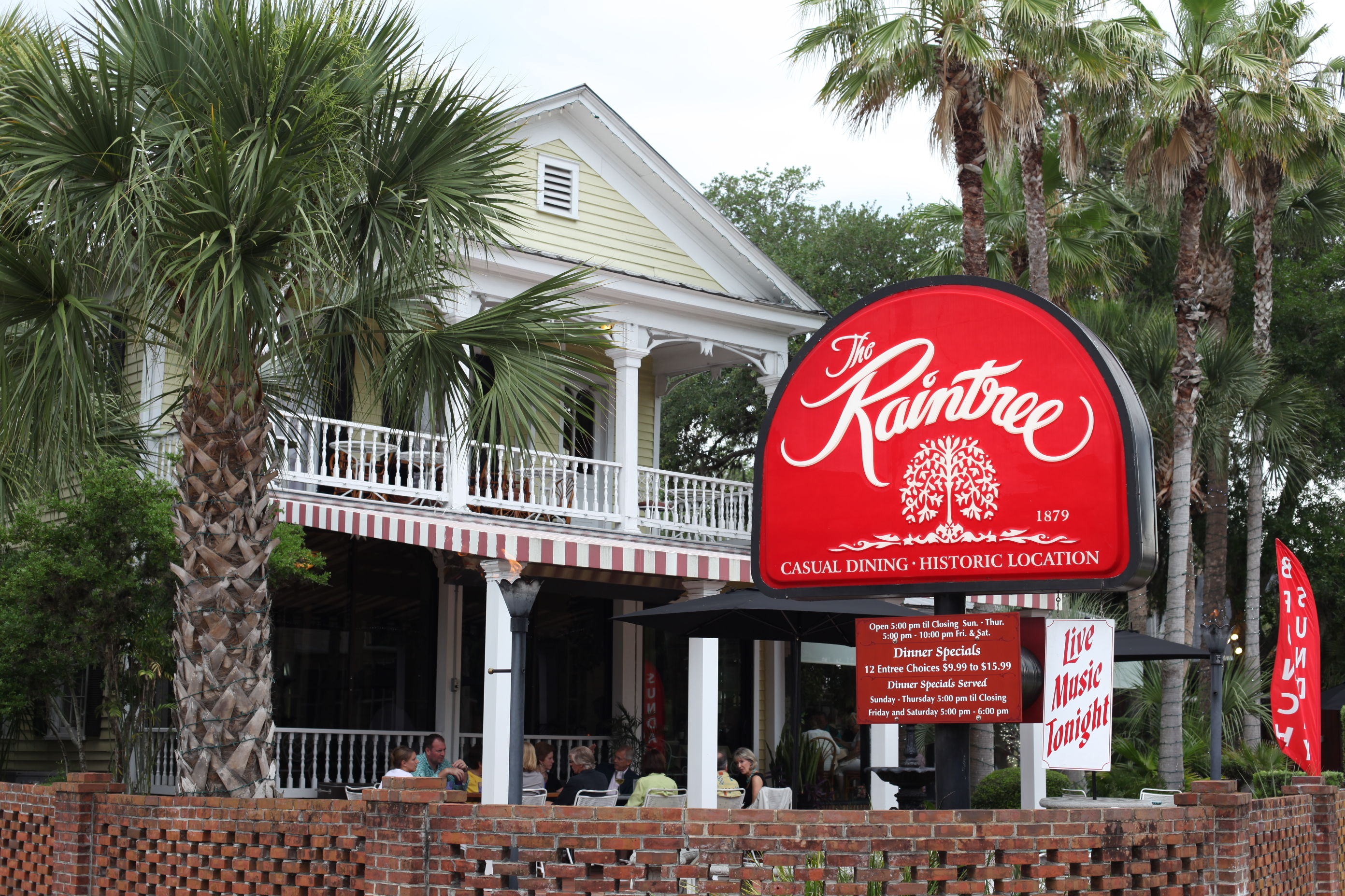 Raintree Restaurant, 102 San Marco Ave., is a local favorite, serving dinner seven days a week in turn-of-the-century house. Photos by RENEE UNSWORTH