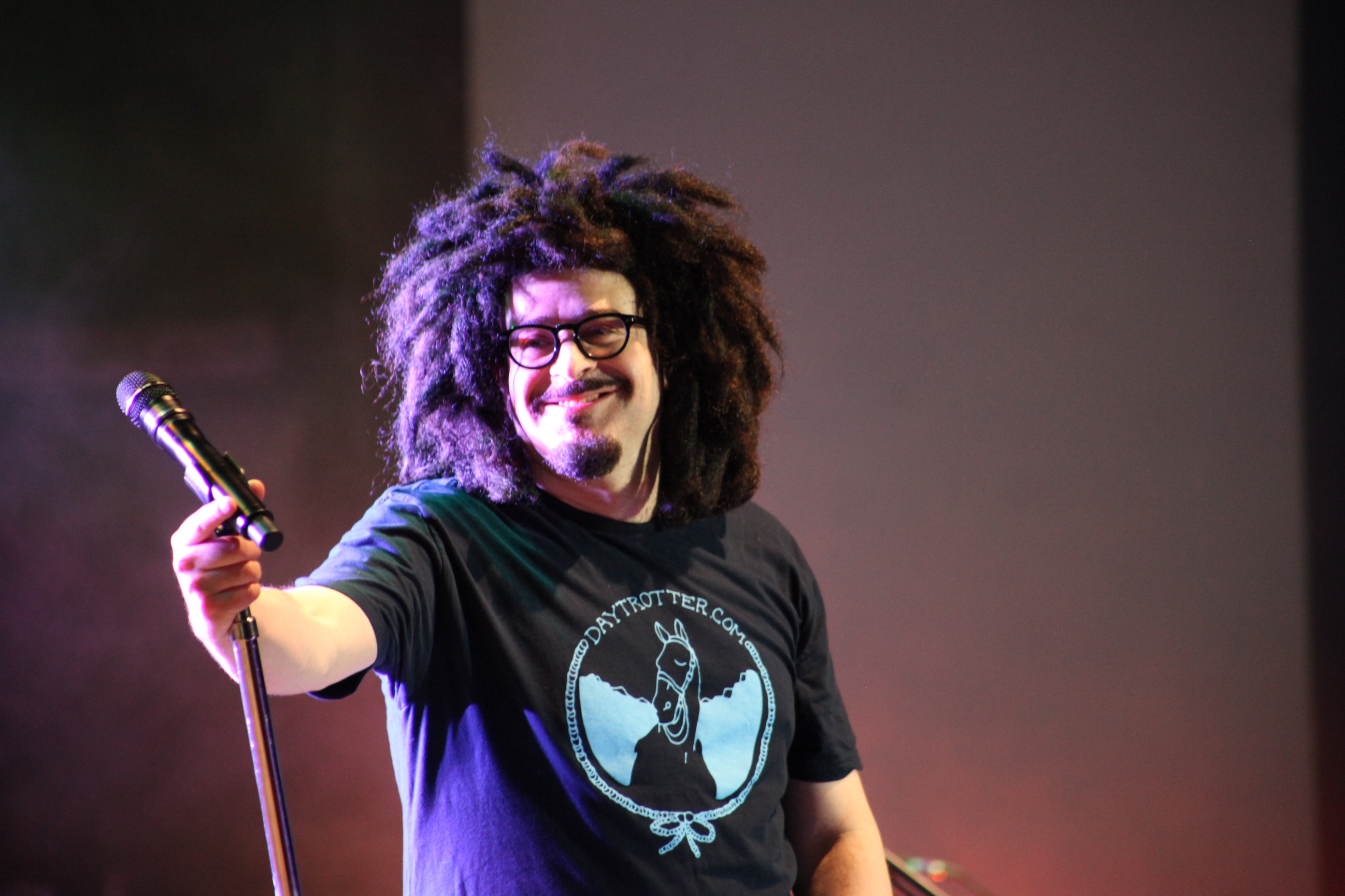 Adam Duritz, lead singer of the Counting Crows, stops to smile at the crowd on Saturday, June 14 at the St. Augustine Amphitheatre. The band played to a nearly sold out crowd, with Toad the Wet Sprocket opening the show. Photos by RENEE UNSWORTH