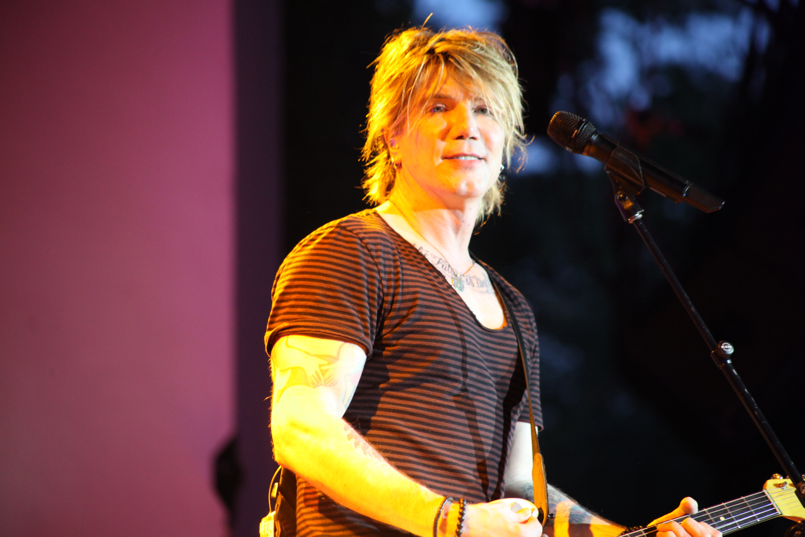 John Rzeznik, lead singer of the Goo Goo Dolls, performs with his band on Thursday, June 19 at the St. Augustine Amphitheatre. Photos by RENEE UNSWORTH
