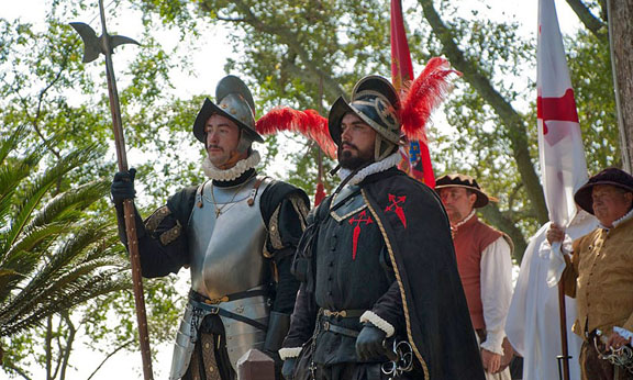 Photo of the Menendez landing by Stacey Sather, Courtesy of Florida Living History, Inc.