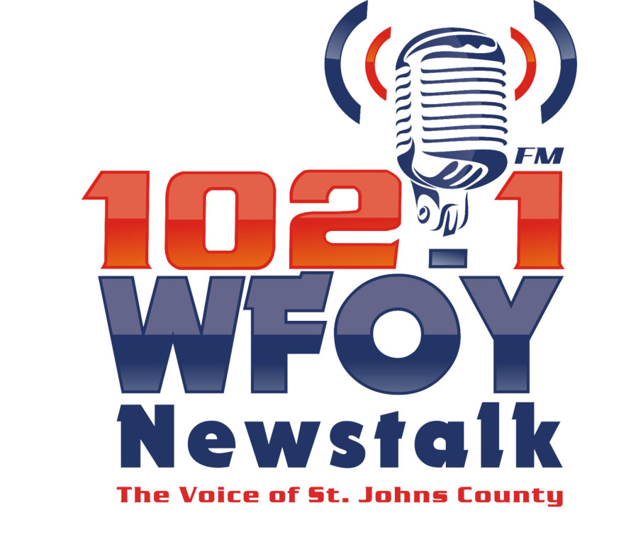 The new 102.1 FM WFOY logo