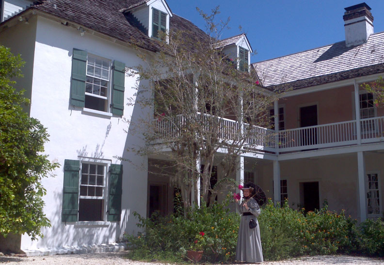This photos shows the exterior of the Ximenez-Fatio House Museum, 20 Aviles St., in historic St. Augustine.