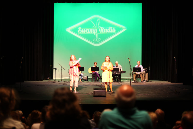 The Swamp Radio show is presented on Friday, July 18 on the stage of Lewis Auditorium at Flagler College. Another show is Saturday, July 19.