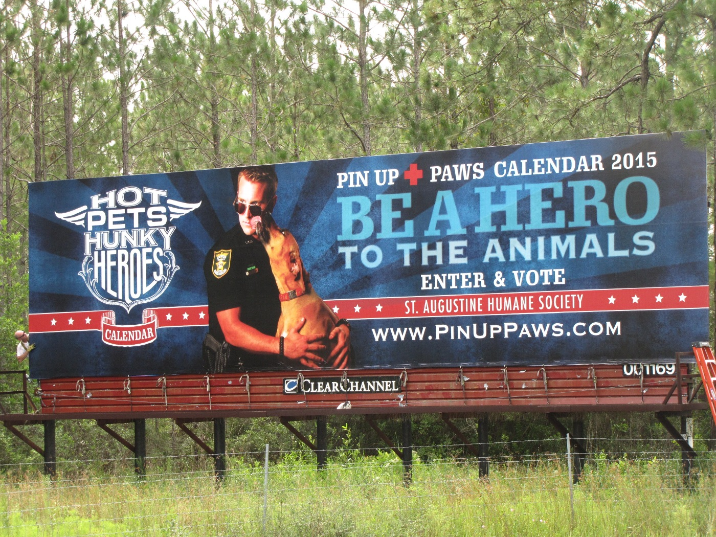 The donated billboard is located on I-95 near County Road 210.