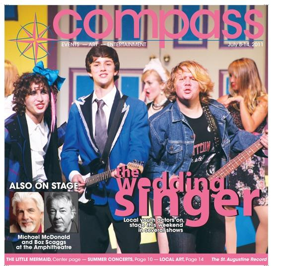 Students if the Summer Musical TheatreCamp, also known as Curtis Camp, are shown on the Compass cover (St. Augustine Record) in 2011. This year (2014) is the 20th season for this local theatre camp.