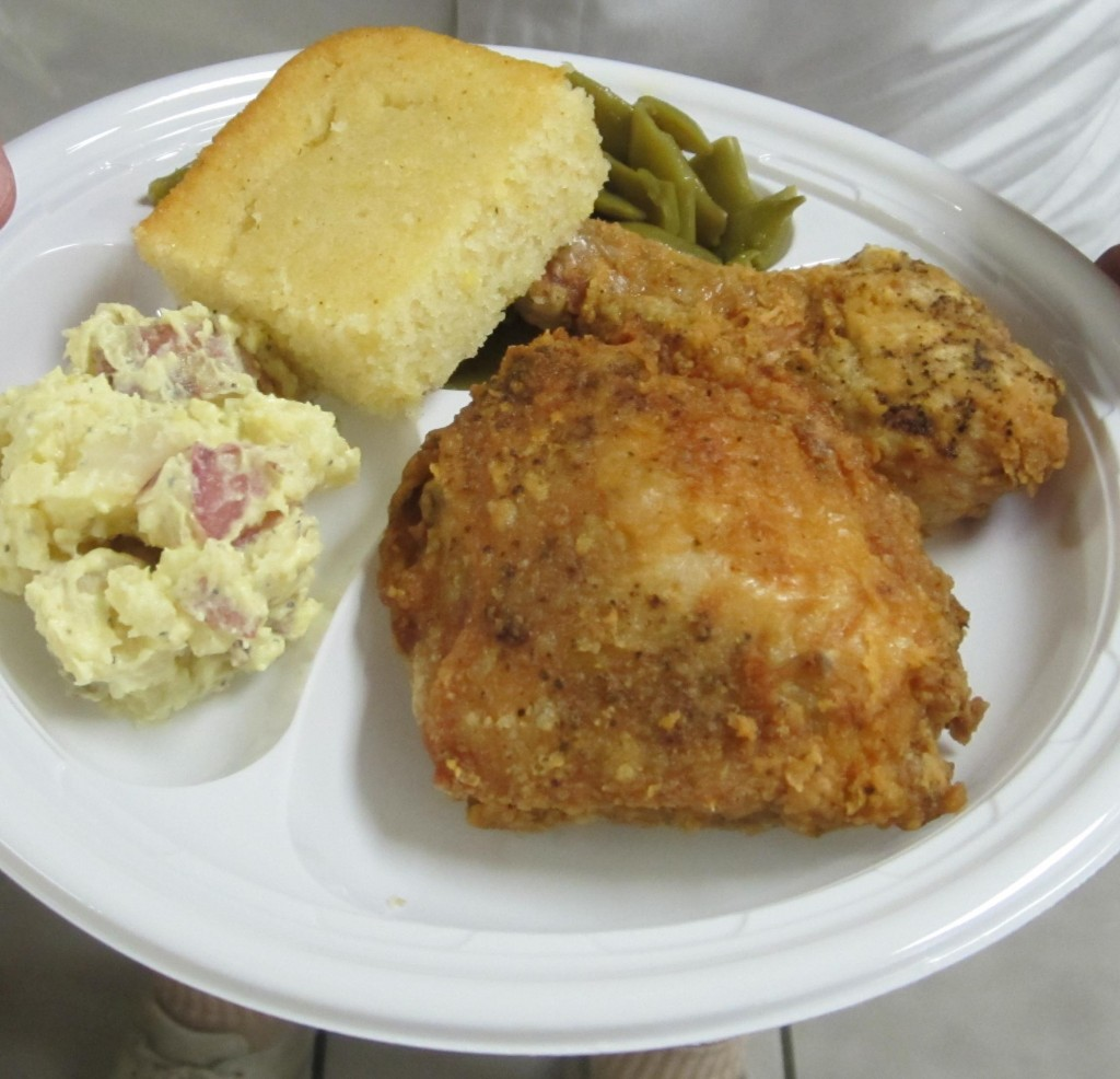 Fried chicken with all the trimmings will be served Sept. 26 at the St. Augustine Shrine Clubhouse.