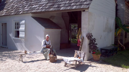 A scene from the historic Ximenez-Fatio House
