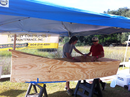 BTHS Earns Honors At Quick 'n Dirty Boat Building Event
