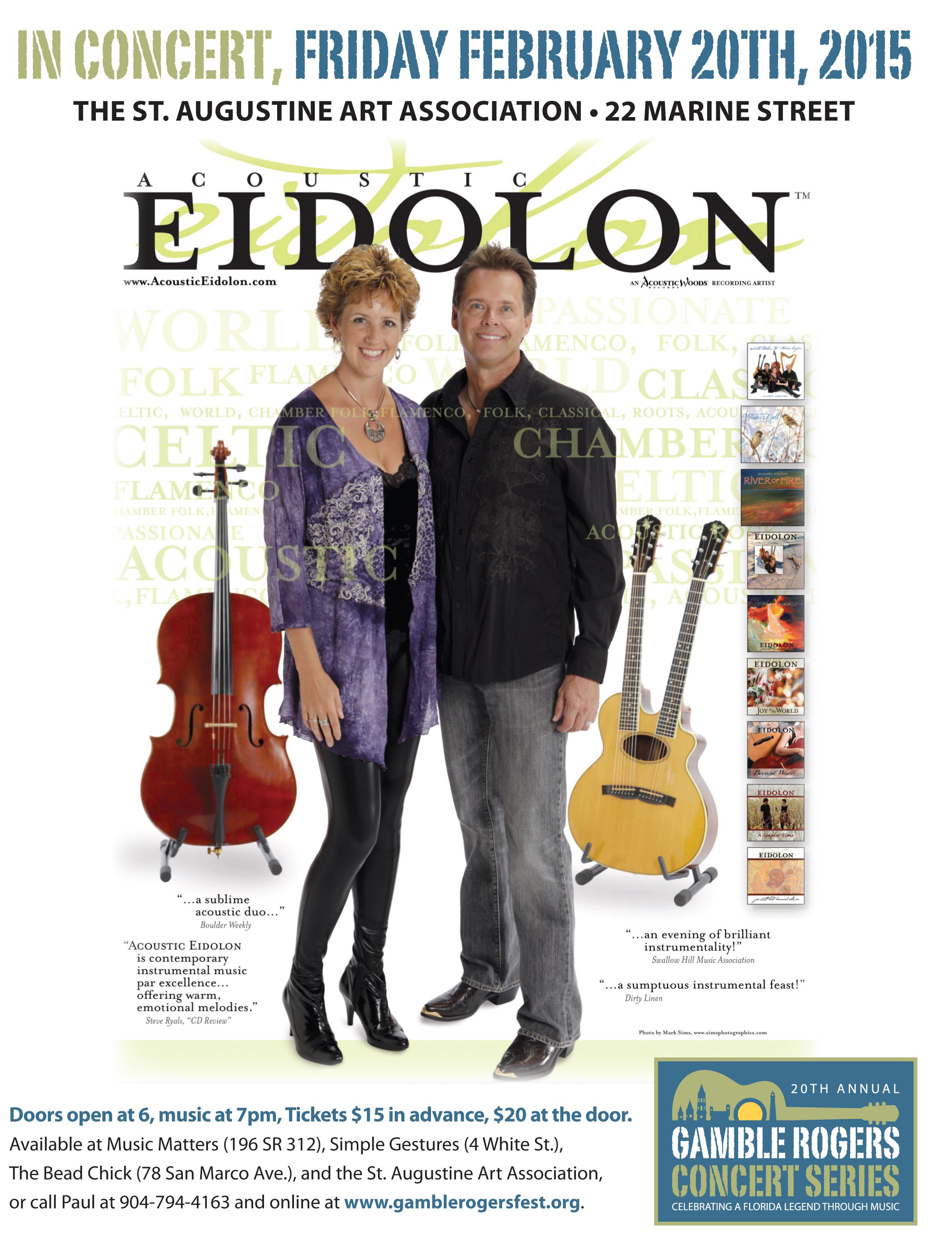 Acoustic Eidolon to perform Feb. 20 at St. Augustine Art Association