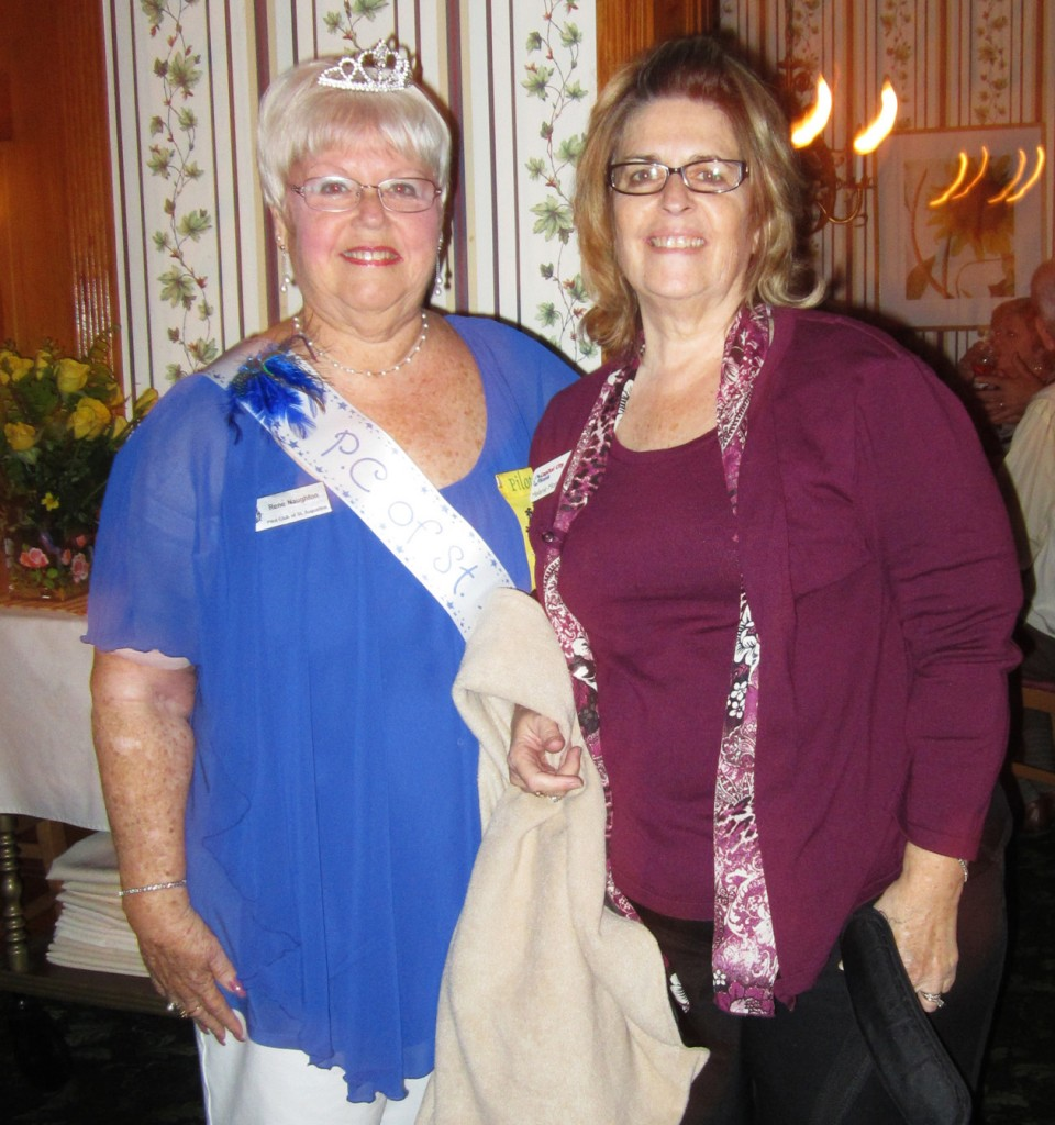 Rene Naughton, left, club princess, with Melanie Morrison, club treasurer.