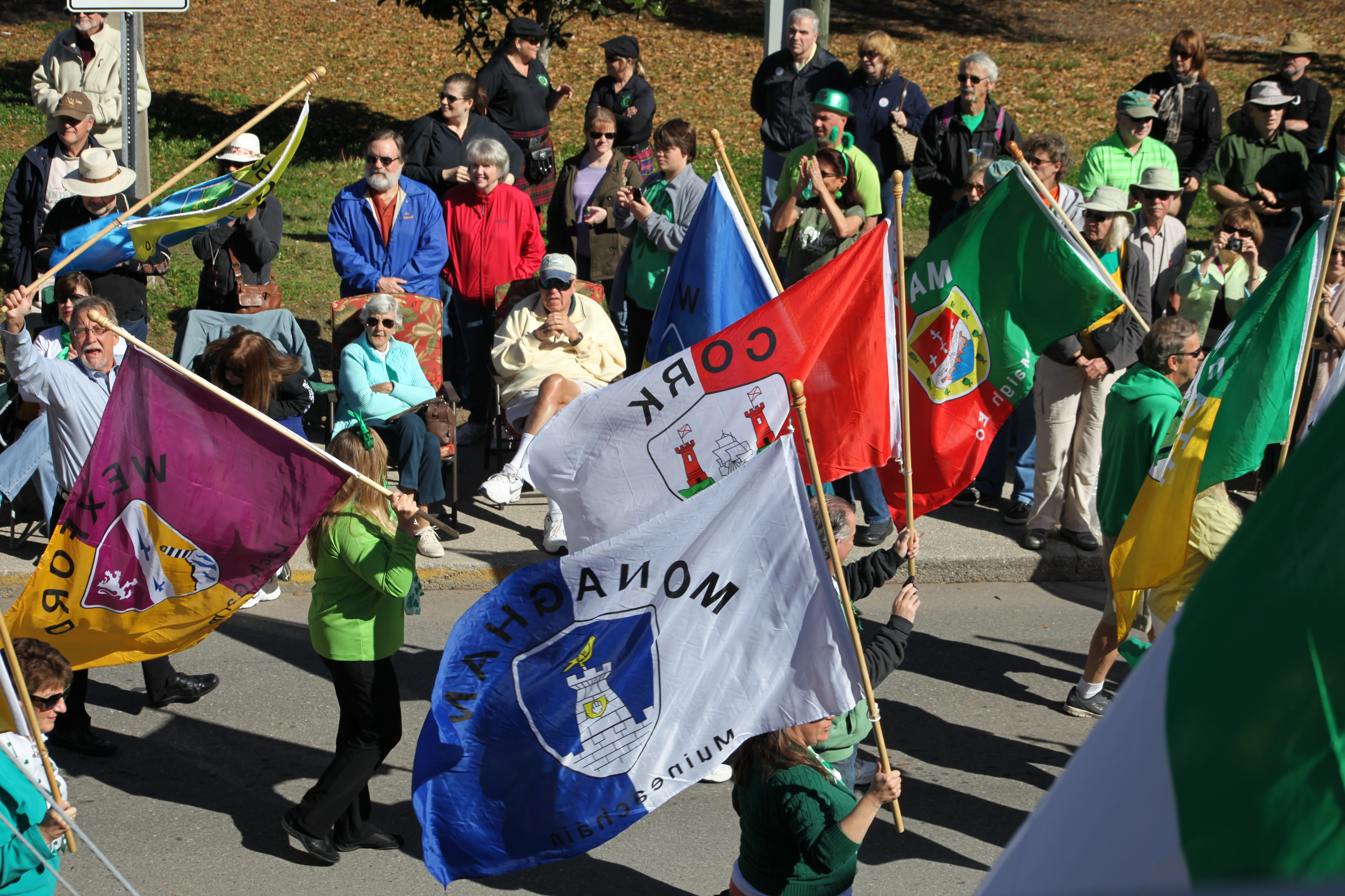 Celtic flags are flown during the 2014 St. Augustine Patrick's Day Parade. This year's event is set for 10 a.m. Saturday, March 14 in downtown St. Augustine. Photo by Renee Unsworth