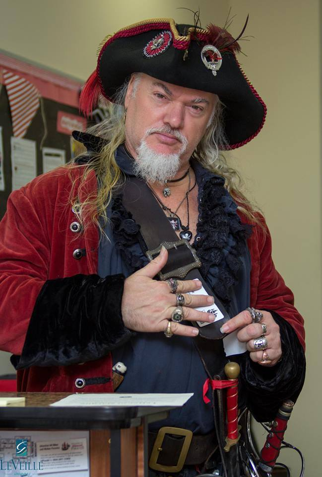 Captain William Mayhem, a local pirate re-enactor, will portray