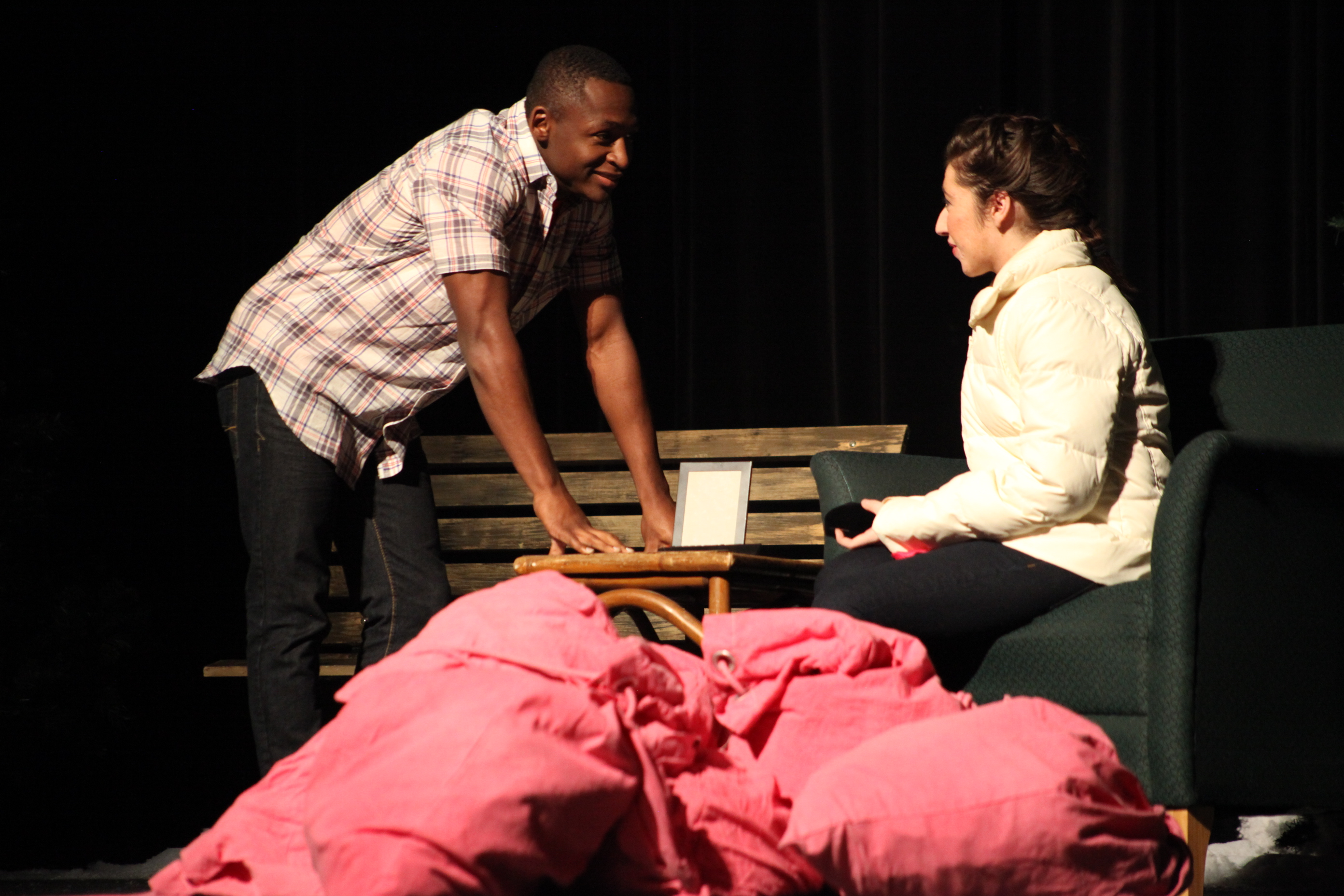 Students rehearse Almost Maine at Nease High School. The drama is on stage Feb. 5-8 in the school's auditorium,10550 Ray Road, from U.S. 1 North. Photos by Renee Unsworth