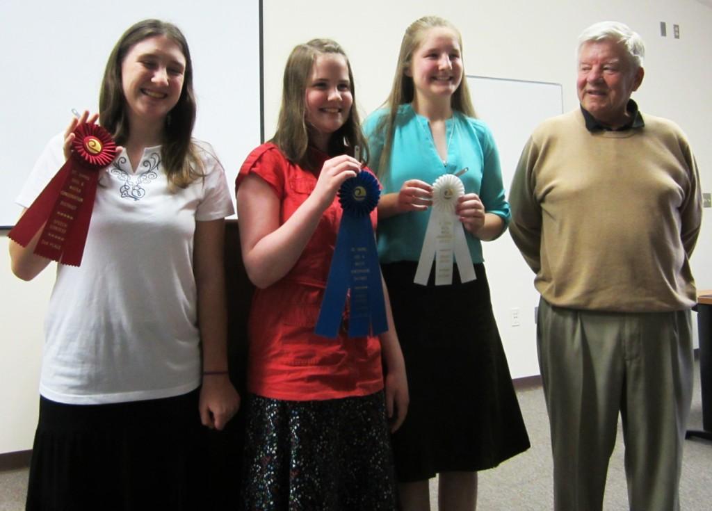 Gretchen Bradley Wins Speech Competition