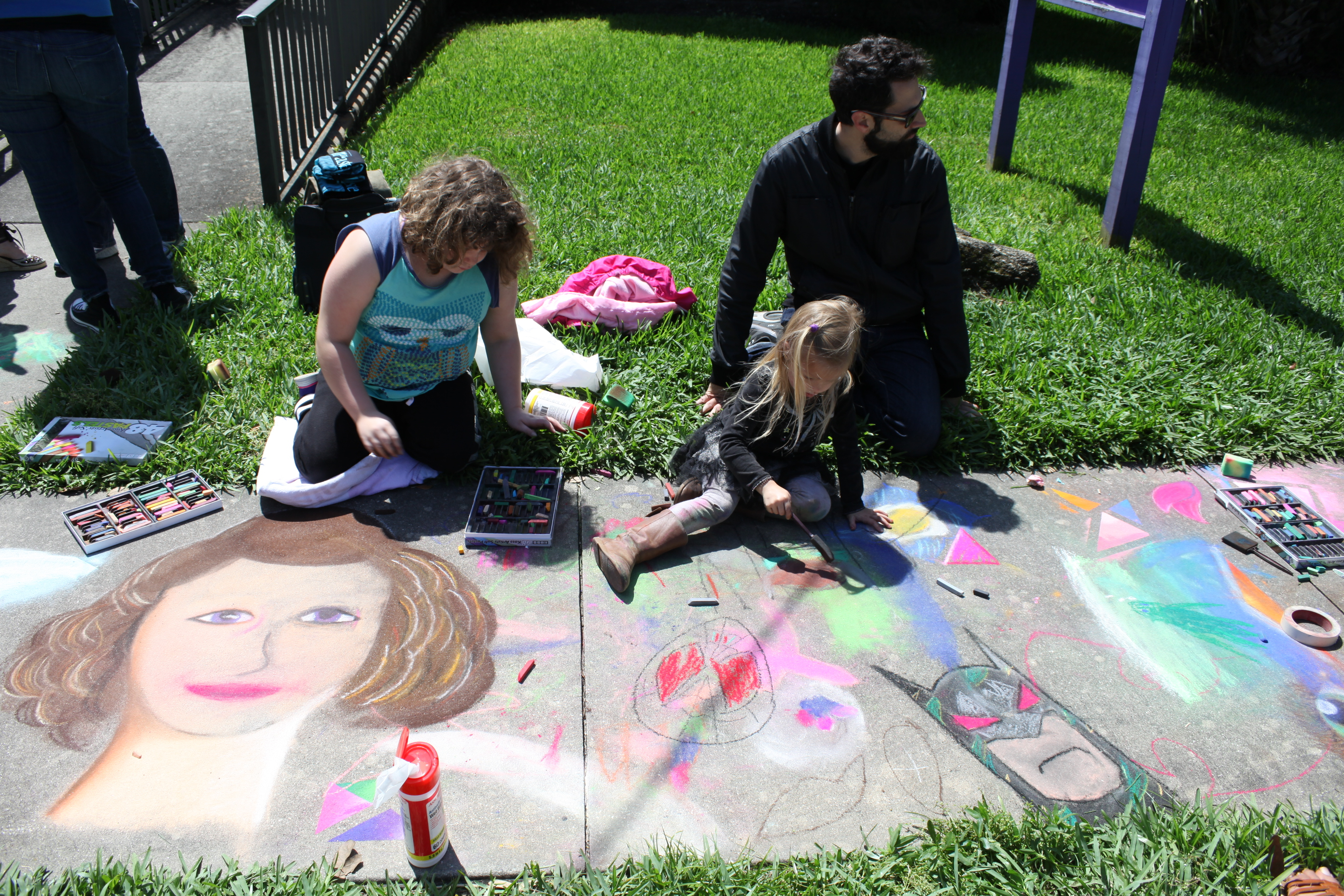 The 2015 Paseo Pastel St. Augustine Chalk Walk is set for May 1-3 in downtown St. Augustine. Photo shows an image from the chalking workshop on March 28. Photo by Renee Unsworth