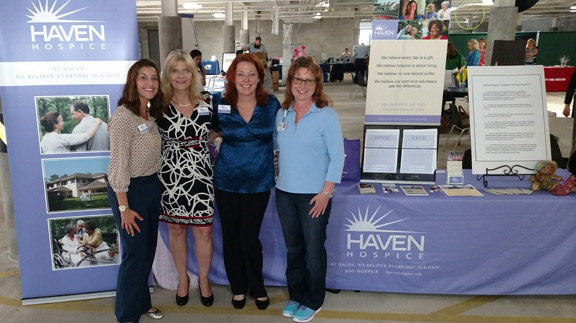 Haven Hospice Professional Liaison Sandra Goode, Haven Hospice Professional Liaison Carol Albanesi, Haven Hospice St. Augustine Administrator Cathy Johnson and Haven Hospice St.