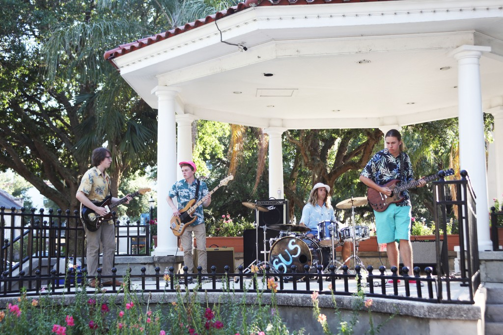 Concerts in the Plaza are held from 7 to 9 p.m. every Thursday starting May 28 through Sept. 3, 2015 in the Plaza de la Constitucion, between King Street and Cathedral Place, in downtown St. Augustine. Photo from 2014 by Renee Unsworth