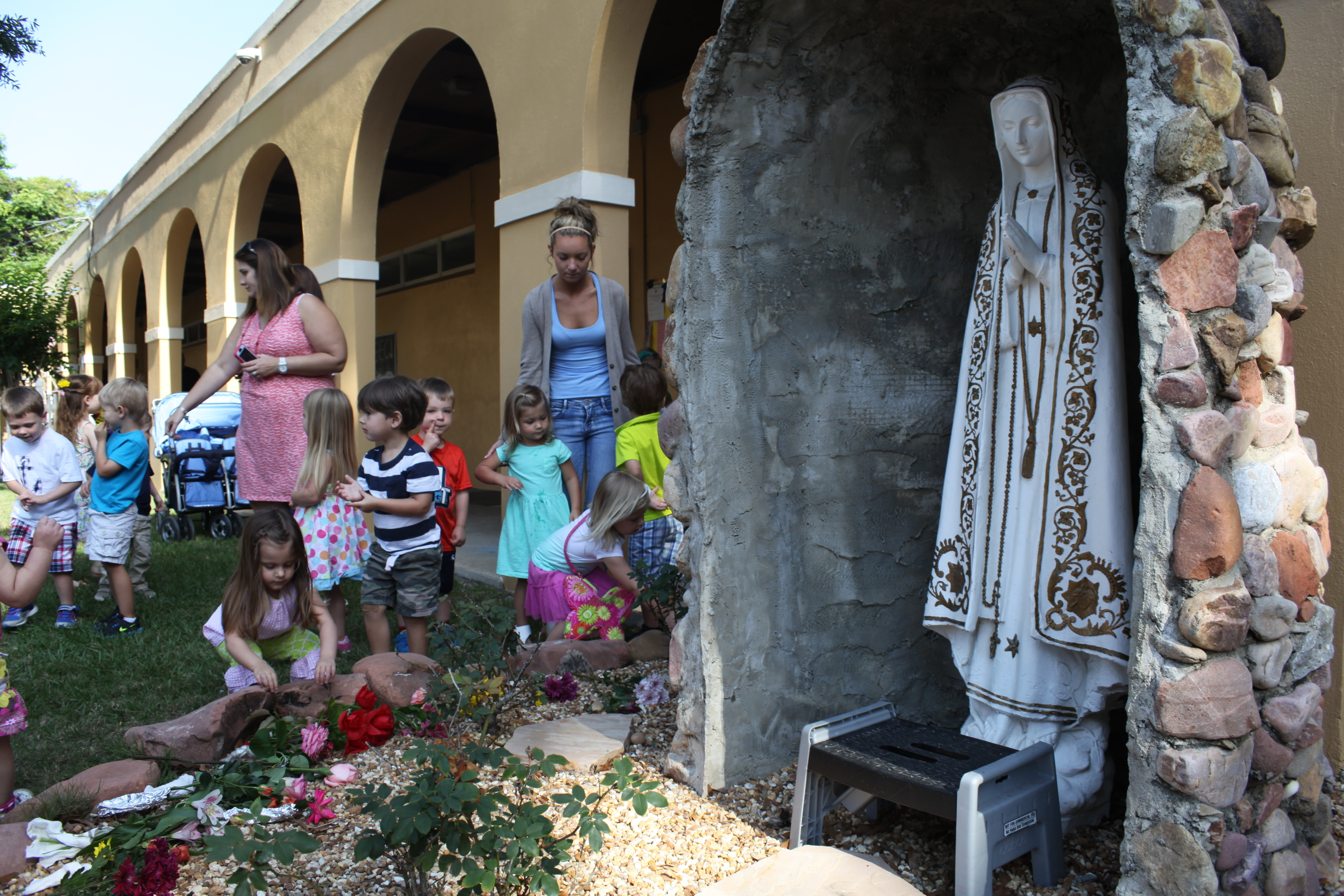 Preschool students at Cathedral Parish Early Education Center in St. Augustine crowned Mother Mary with flowers on Monday, May 11 at the school.