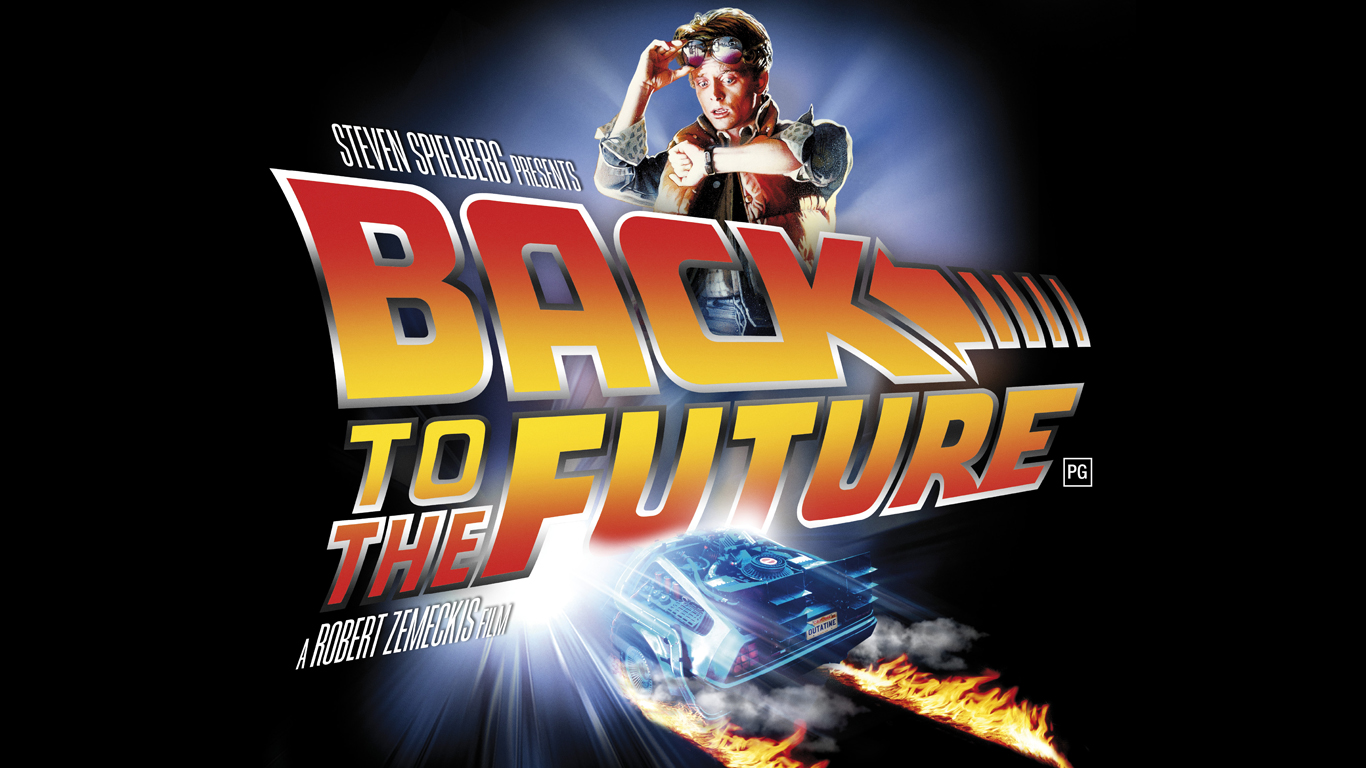 Back to the Future is on screen