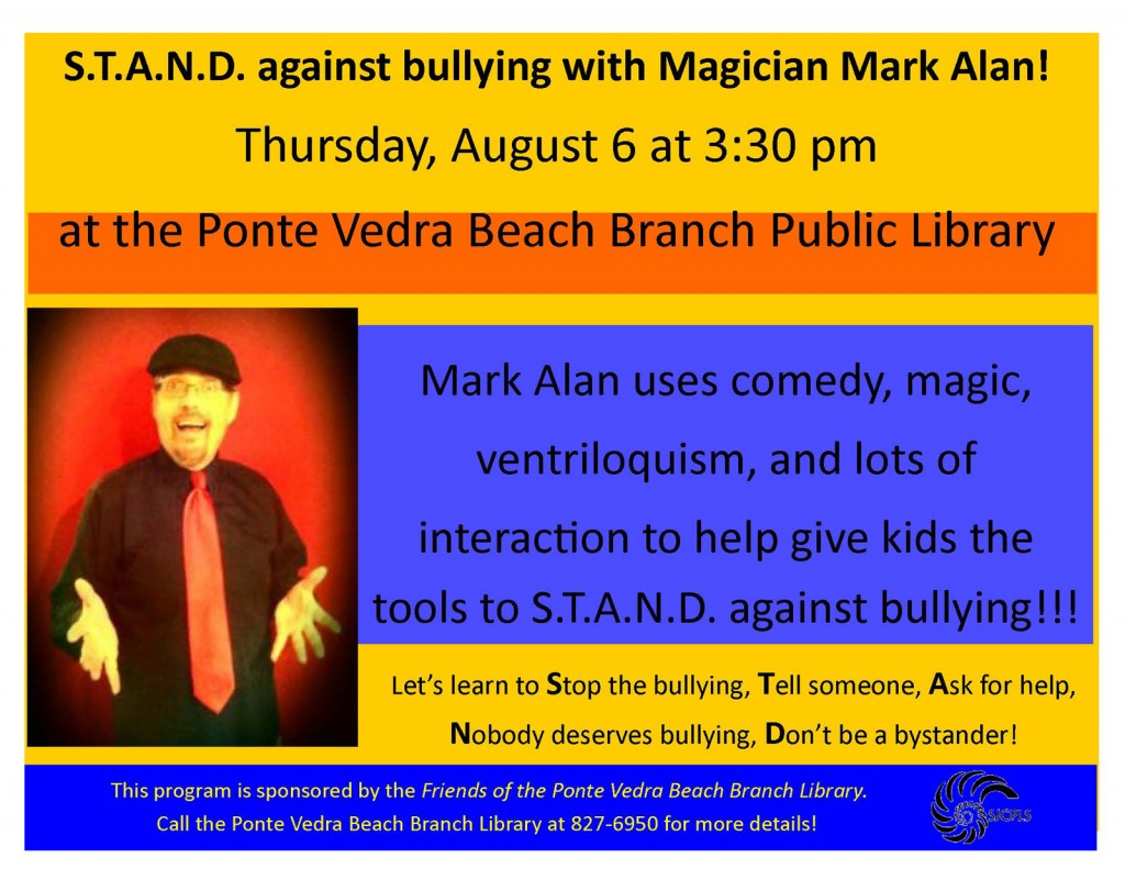 2015 STAND Against Bullying magic show - Ponte Vedra Beach Branch Library