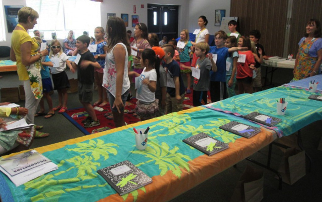 Cathy Snyder, of Las Adelfas Circle and the Sisterhood of the Traveling Plants, engages the kids during the Ponte Vedra Beach Library workshop. Photos provided by PVB Library.