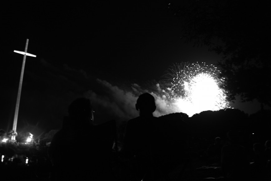 Fireworks July 2015BW