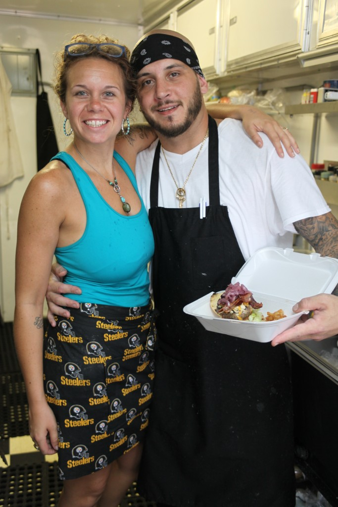 Christina D'Amato and Chef Vinny D'Amato in their food truck, Uptown Scratch Kitchen, 32 San Marco Ave., St. Augustine.