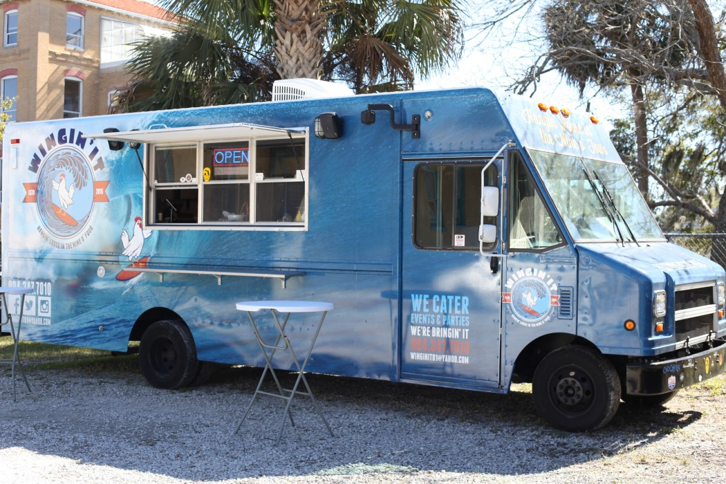 Wingin' It is a food truck parking at Rembrandtz, 131 King St., downtown St. Augustine. Photo by Renee Unsworth
