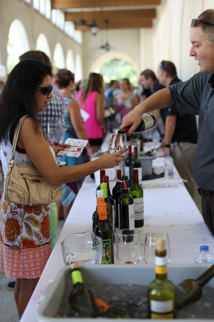This photo shows the grand tasting at the 2014 St. Augustine Spanish Wine Festival. The 2014 Grand Tasting is set for Sept. 12 at the Mission Nombre de Dios. See details in the story below. Photos by Renee Unsworth