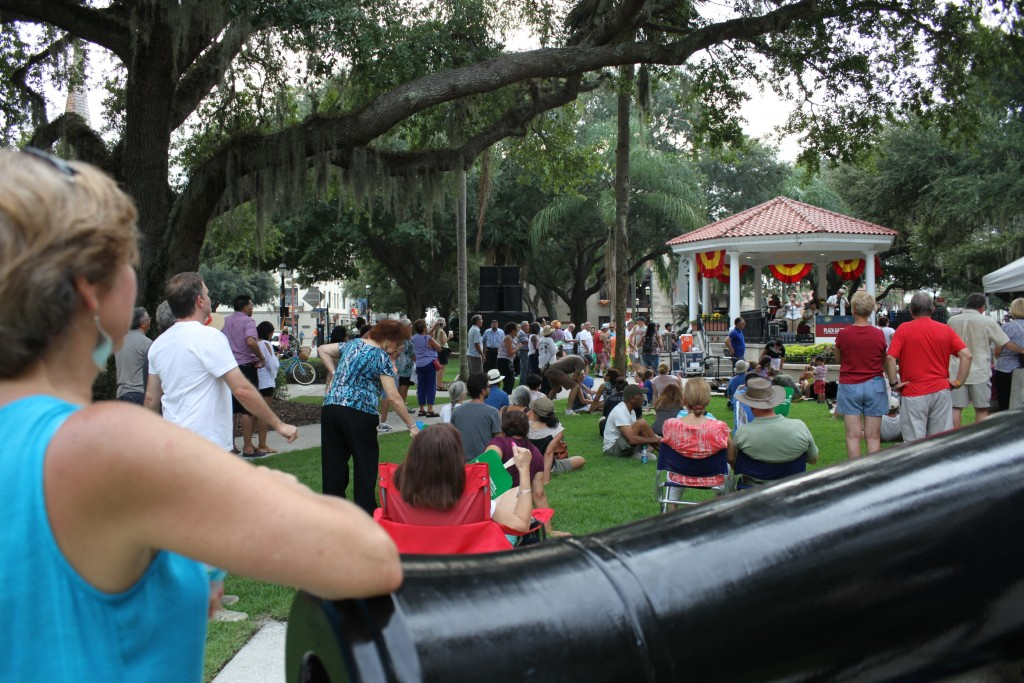 Live music by local groups was performed from 3 to 6 p.m. Friday, Sept. 4 on the gazebo stage in the Plaza de la Constitucion in downtown St. Augustine during Celebrate 450!, a three-day music and street festival celebrating St. Augustine's 450 years.