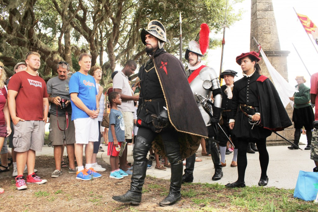 The Menendez landing will take place on Saturday, Sept. 10 on the Mission grounds in St. Augustine. In this photo: Actor Chad Light is shown here as Don Pedro Menendez de Aviles, the founder of St. Augustine and Florida's first governor. Photos by Renee Unsworth