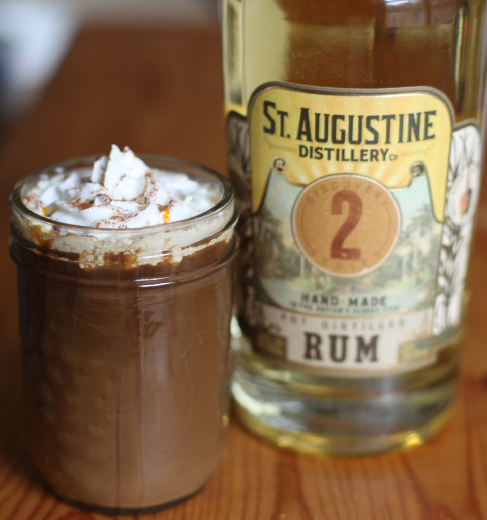 Smuggler's Coffee made with Discovery Series 2 rum from the St. Augustine Distillery is an easy and fun way to enjoy this locally made spirit. Photos by Renee Unsworth