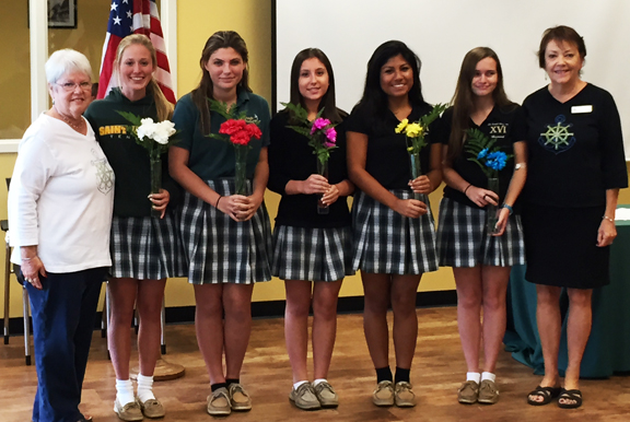 SJA Anchor Club Officers Installed