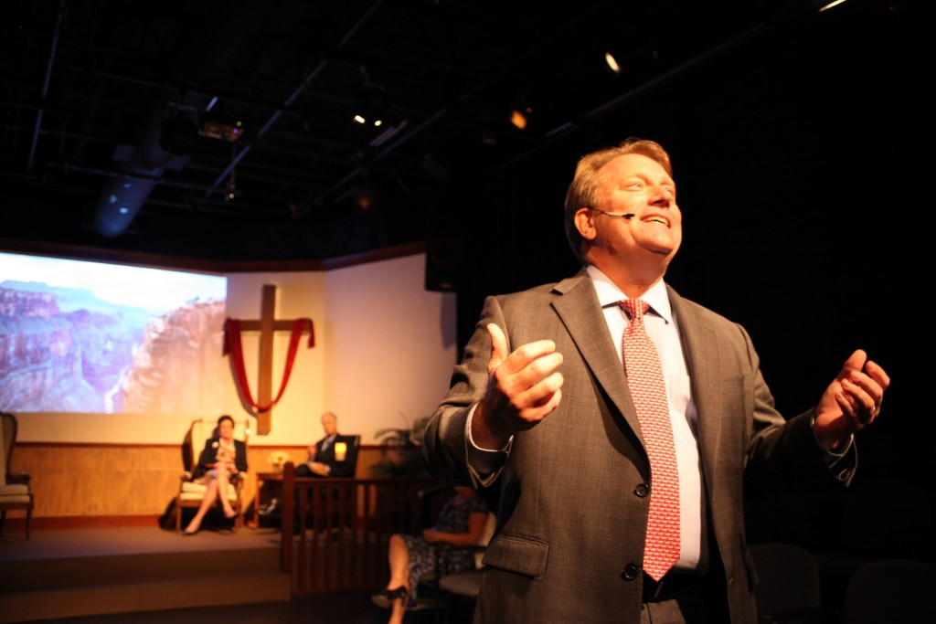 Everette Street as Pastor Paul in The Christians, on stage Oct. 23 through Nov. 15 at Limelight Theatre.