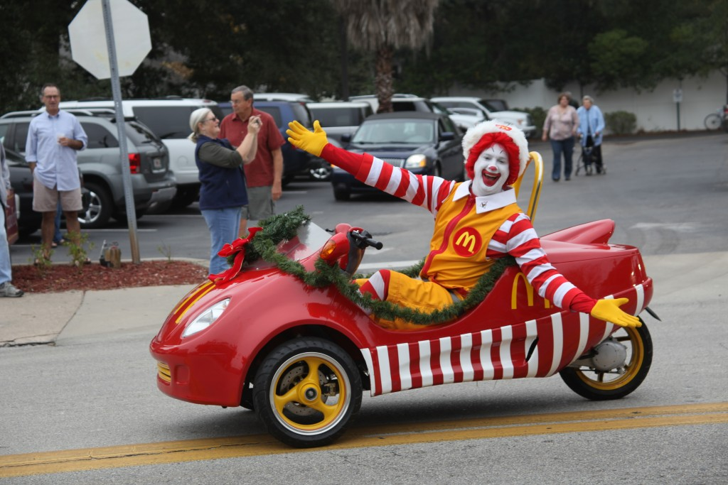 Ronald McDonald made an appearance in the 2014 Christmas Parade. The 2015 St. Augustine Christmas Parade is set for Dec. 5.