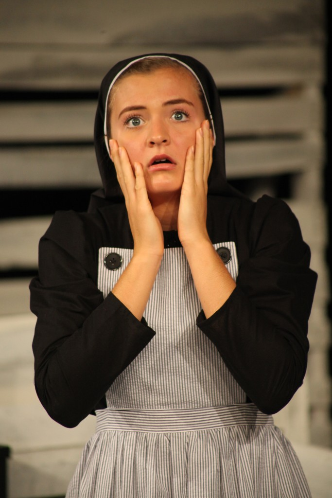 Emily Onimus in Agnes of God, on stage Nov. 19-22 at St. Augustine High School. Photos by Renee Unworth