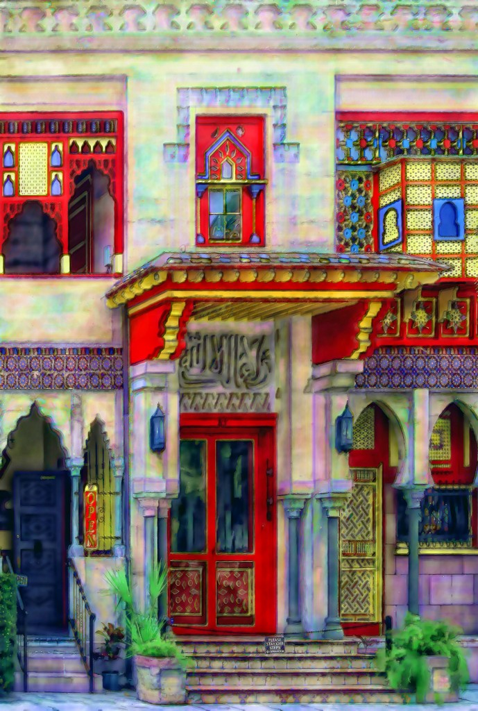 Villa Zorayda by artist Stephen D. Anderson, on view Jan. 22-Feb. 14 during The Grapes of Wrath at Limelight Theatre.