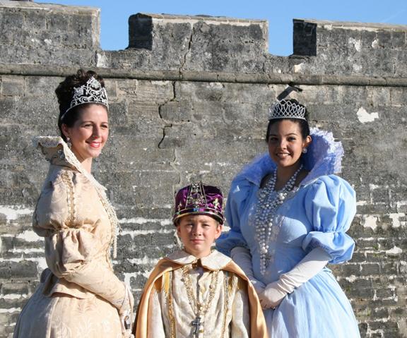 This year's Royal Trio include Kerrie Alexander as Queen Mariana; Joseph Solana, King Carlos; and Allison Courter as Princess Margarita Maria.