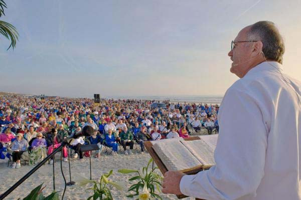 The Easter message is shared with the thousands who gather at Crescent Beach.