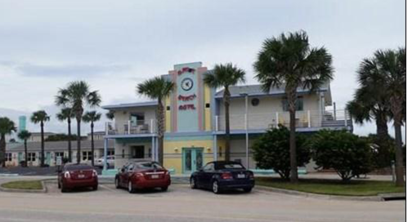 The restored historic Magic Beach Motel, Vilano Beach Main Street