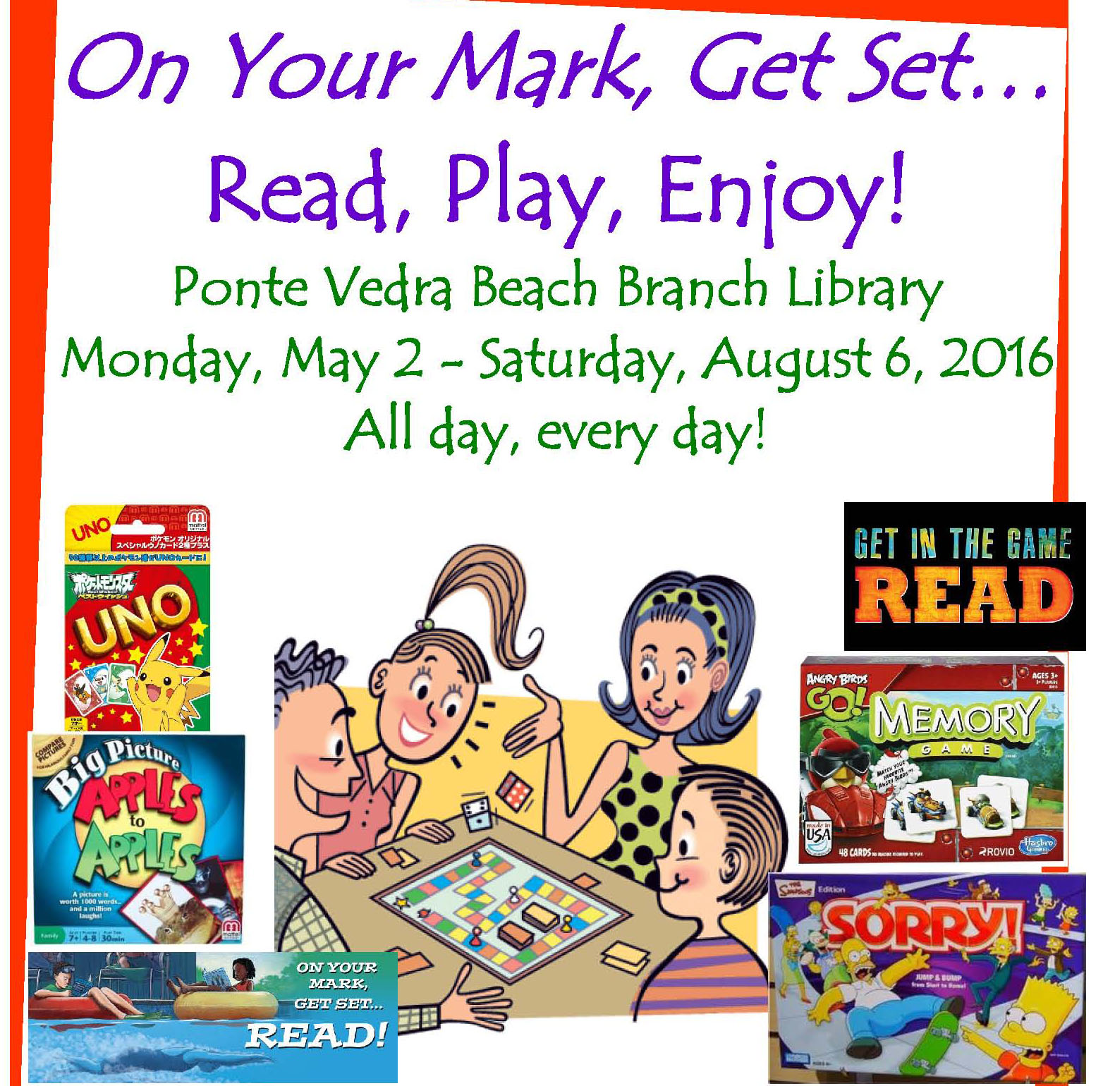 On Your Mark, Get Set...Read, Play, Enjoy! - Ponte Vedra Beach Branch Library
