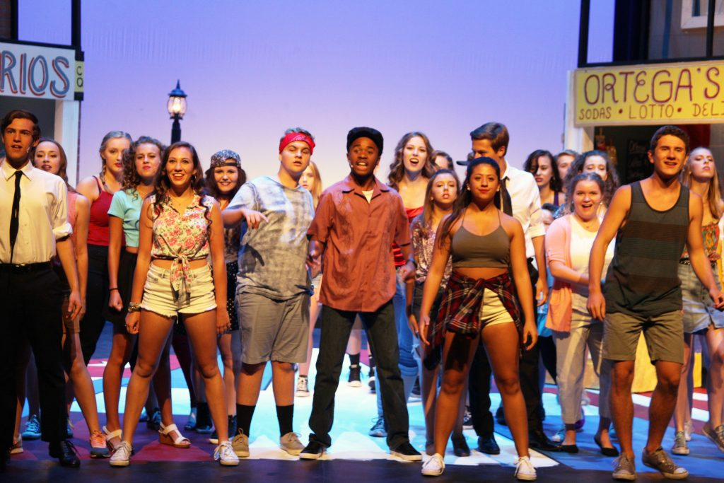 Students in the Summer Musical TheatreCamp's production of In the Heights, on stage during dress rehearsals. The musical will be staged July 1-3 in Lewis Auditorium at Flagler College. See more details in the story. Photos by Renee Unsworth