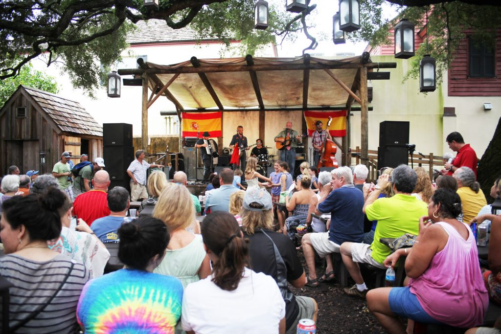 Summer concerts are held each Thursday-Sunday on the Colonial Oak stage at the Colonial Quarter. See this weekend's schedule below. Photo by Renee Unsworth