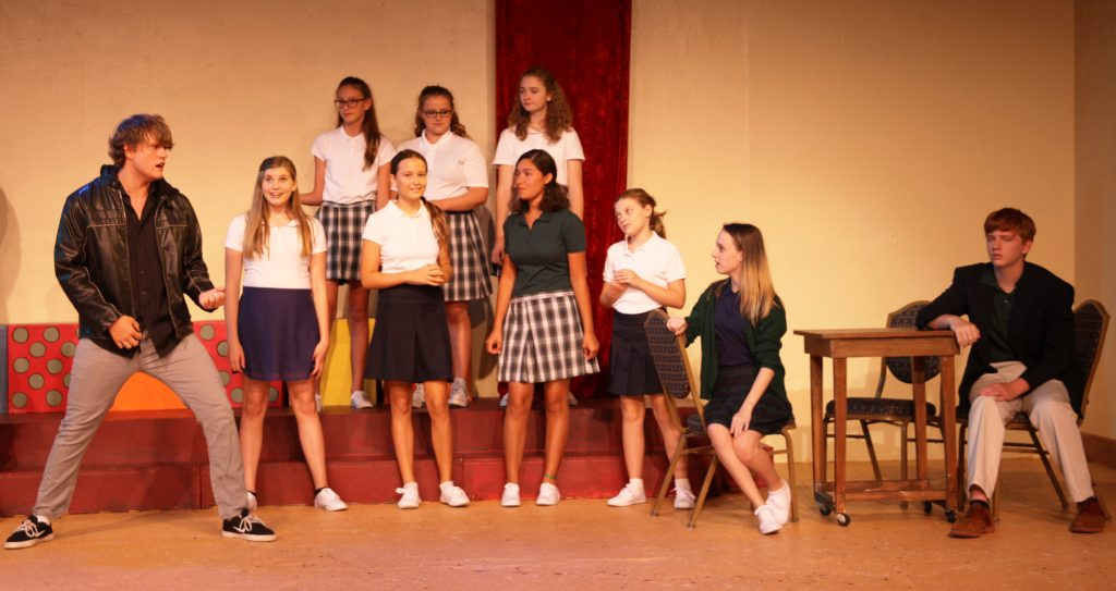 Students in summer camp at Limelight Theatre perform a scene in EMMA A Pop Musical, on stage July 15-17. Photos by Renee Unsworth